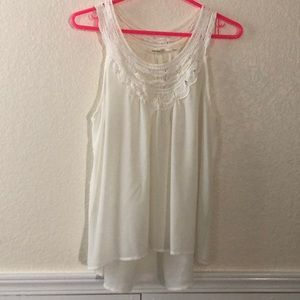 Sleeveless blouse with lace detailing